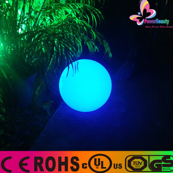 2015 outdoor decoration changing color battery operated solar garden bouncing led moon light round floating ball made in china