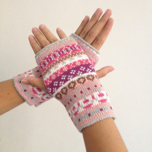 Womens Accessories-Crocheted Hunting Fingerless Gloves Mittens - Warm Knit Fingerless Gloves In Stock