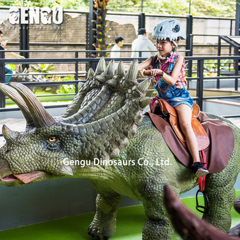 Amusement park entertainment electric walking dinosaur rides