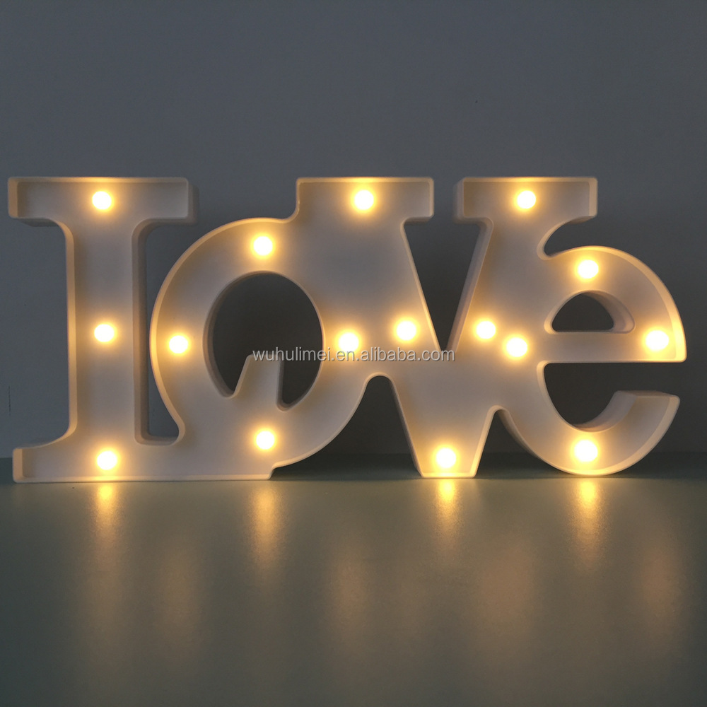Marquee LOVE Sign Batteries Operated Light up Letters and Illuminated Home Wedding Decorations