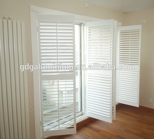Hot sale aluminum frame prefabricated aluminium louver security shutters manufacturers SH-1