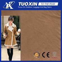 women outer wear material mock suede fabric coat jacket