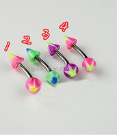 Eye Brow Piercing Fancy Custom Acrylic Banana Eyebrow Rings Eyebrow Ring Barbell Piercing