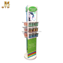 MX-WCM189 eye catching wood material cosmetics display design showcase
