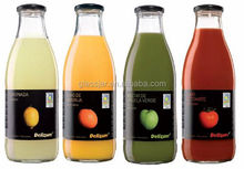 1L empty cheap vegetable juices glass bottle