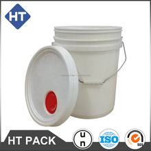 20L lubricating oil packaging plastic bucket,5 gallon empty plastic bucket with tear tab pour spout lid