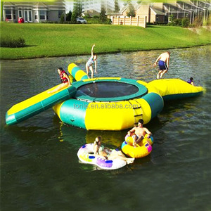 giant commercial Inflatable Water Trampoline/ inflatable waterslide trampoline for sale