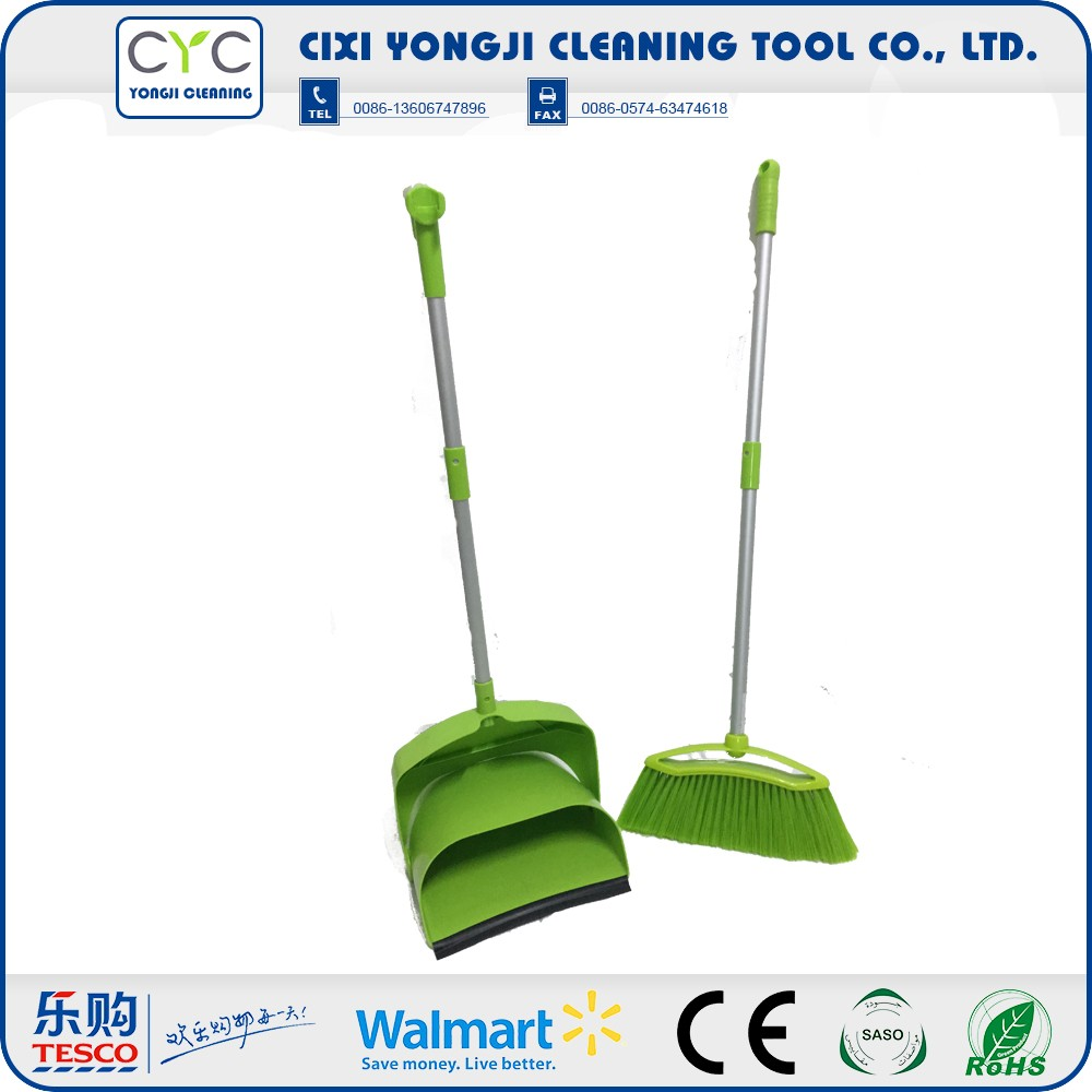 Wholesale high quality broom plastic dustpan set