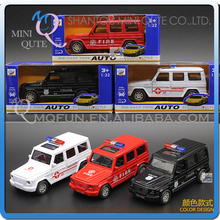 Mini Qute 1:32 kid Die Cast pull back alloy G55 SUV music police vehicle model car electronic educational toy NO.MQ 858-101F