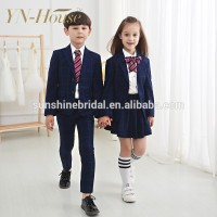 Custom Primary sex school girl uniform with dress shirts and tie