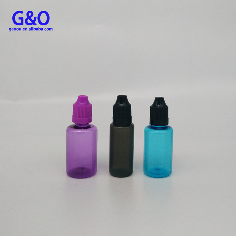 USA market 10ml plastic eye 10ml childproof dropper bottles 30ml acrylic pet bottles for cuticle oil