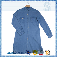 Creative design team loose casual blue corner shirt