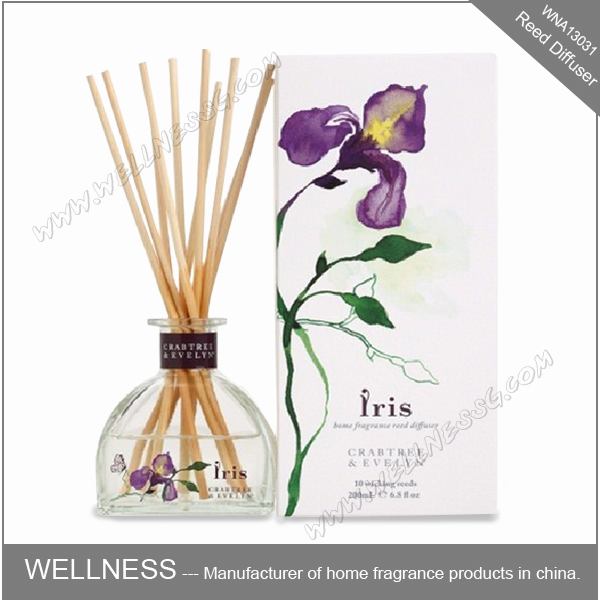 decorative glass bottle reed diffuser with sticks