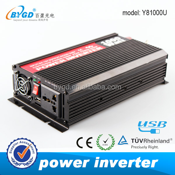 1000W 12v dc converter to 220v ac power inverter