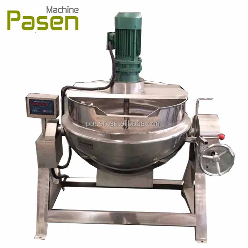 industrial Oil Jacketed Cooking Pot / Pot With Mixer , Jacketed Boiling Pot