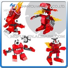 Mini Qute LELE 3pcs/set 3 in 1 plastic robot dinosaur boys kids model building block action figures educational toy NO.78070