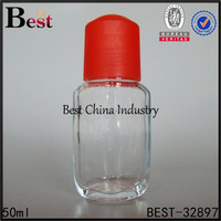 Wholesale 2014 fashion clear glass,roller ball perfume bottles-hot mini glass material pla cap on top use fragrant perfume-whole