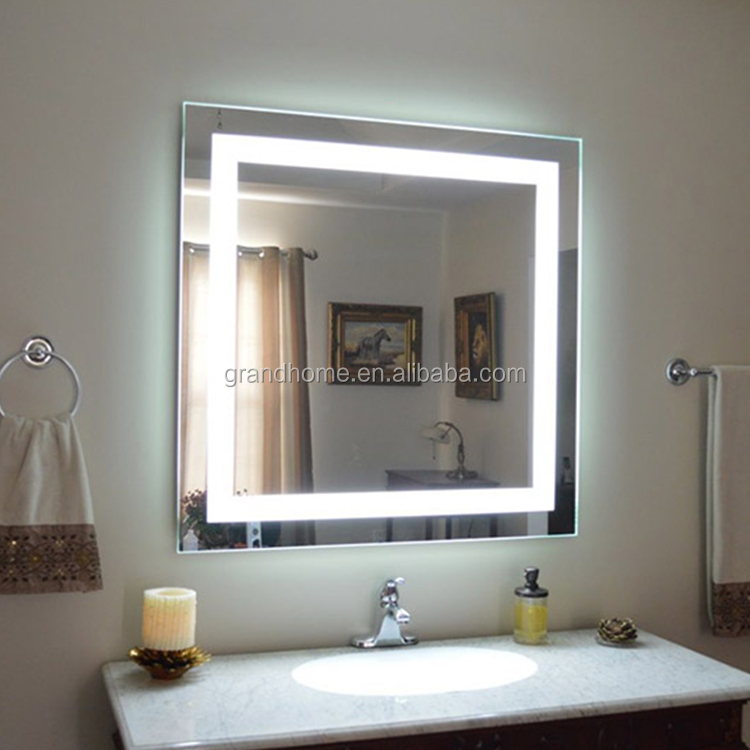 Luxury home hotel salon large wall smart mirror big size light backlit bathroom led mirror