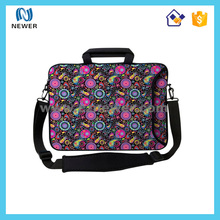 17 Inch neoprene laptop sleeve with handle with ripstop