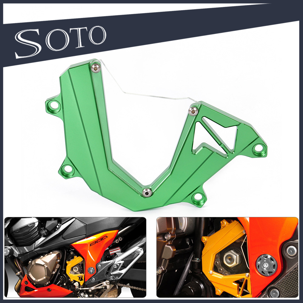 Aftermarket CNC Motorcycle Left Engine Front Sproket Chain Protector Cover For Kawasaki Z800