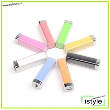 USB mini travel charger/lipstick power bank 2600mah