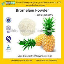 GMP certified factory supply 100% Pure Bromelain Ananase powder