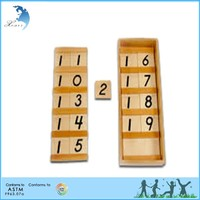 Wooden Montessori Materials,Educational Wooden Toys,Montessori Teens Boards and Beads Set