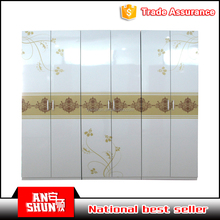 Steel printed knock down bedroom 6 doors flatpacked wardrobe