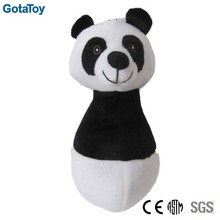 Cute custom plush panda bowling toy stuffed soft bowling play set