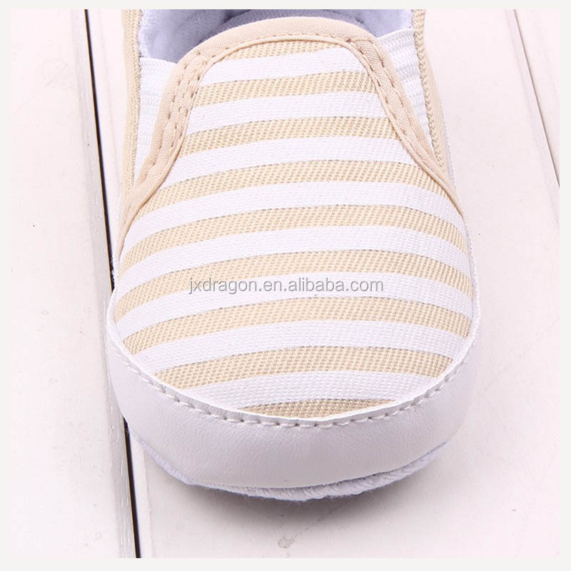 2016 Spring Autumn Fashion Sneakers 0-2Years Baby Shoes Navy Striped Green Khaki Black 3 Colors Toddler Infant Shoes