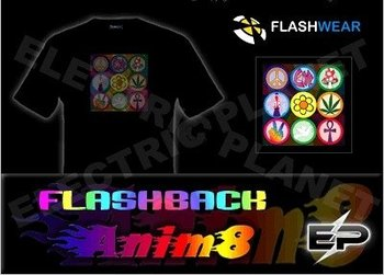 [Super Deal]Wholesale fashion hot sale T-shirt el t-shirt,led t-shirt a8