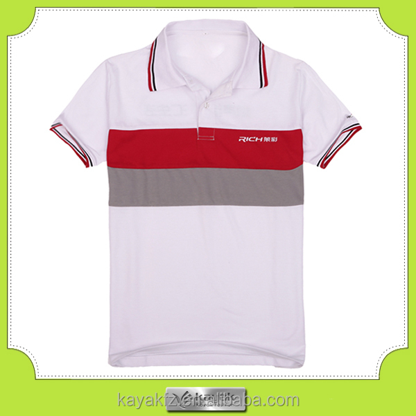 advertising custom-made stripes polo mens tshirt