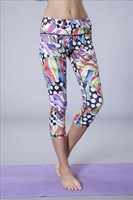 seamless printed Yoga leggings elastic GYM leggings seamless sports pants