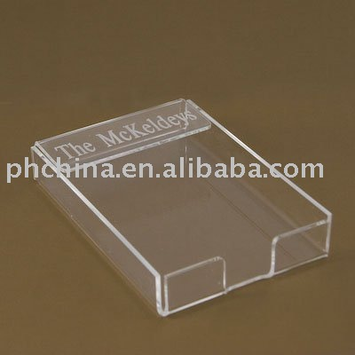 SM-08 Transparent Acrylic Memo Holder, Notepaper Holder,Acrylic Pad Holder