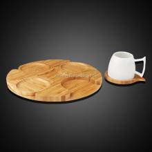 Wood coaster holder/wood tea coaster set/Custom wood coaster