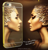 For iPhone 6 Case Mirror TPU Phone case made to order brand name cell phone with low price