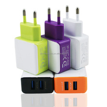 hot selling EU US plug 2 usb ports qc3.0 travel charger for mobile phone