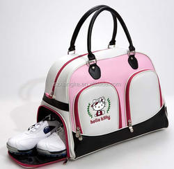 Deluxe PU Golf Boston Bag OEM/OEM Golf Boston Bag
