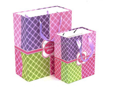 reusable colorful shopping foldable paper bag gift bag