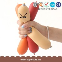 Branded Design TPR+EVA material sausage toy for angry people