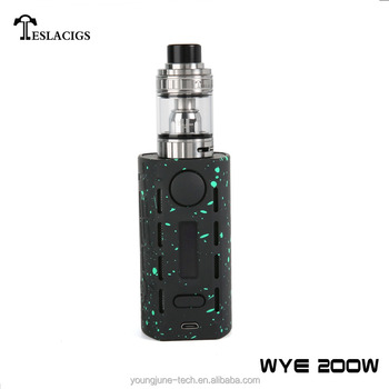 New products in market Teslacigs WYE 200W box mod with tank edition atomizer