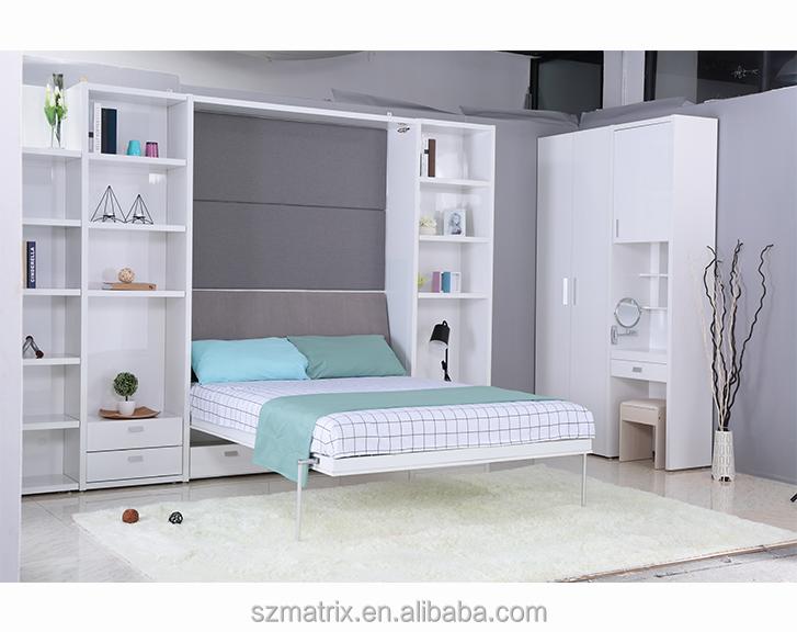 Modern Space Saving Furniture,bedroom Furniture Modern,mdf Queen Size  Hidden Bed