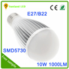 China new home SMD 5730 dimmable E27 10w led bulb