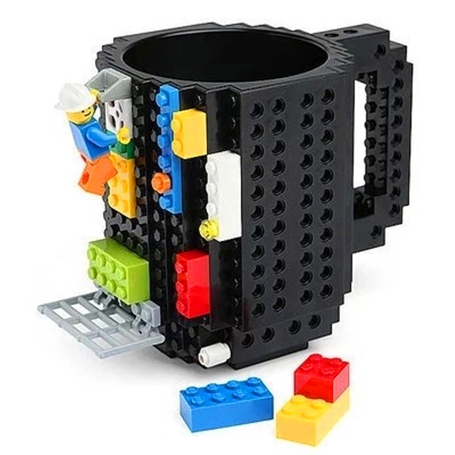 Wholesale BPA Free Coffee Cup Tea Cup Plastic Cup/Most Popular Products DIY Build-on Brick Mug China Factory