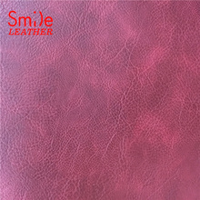 Fast Supplier 1.8mm Suede Backing Two Tone Embossed PVC Synthetic Leather
