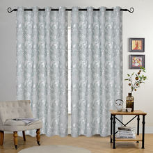 Polyester Jacquard Sheer Window Curtain For Living Room