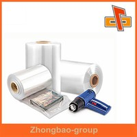 Good transparent excellent shrinkage POF shrinking film , POF tube film ,POF sleeve film made in China