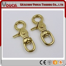 China wholesale solid round eye brass snap hook,alibaba gold trigger swivel spring snap hook , bolt swivel spring snap hook