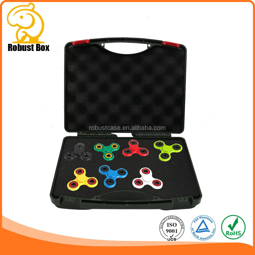 PP material Plastic Carrying Case for fidget spinner with pick and pluck foam