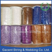 Elastic metallic glitter ribbon